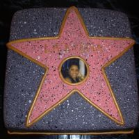Hollywood Star This was lots of fun!! Fondant with spatter painted faux finish. Edible image for the photo of the birthday girl