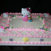 "Hello Kitty I don't usually use plastic ""flotsam"", but the mom ordered it. Sure was easy!"