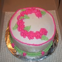 Monogram B-Day Cake A small 6 inch cake for three people to share.