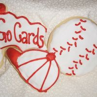 Cardinals Cookies Playing around with different Cookies - We just got Cards tickets - yay!!!!