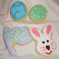 Easter Cookies Playing around with different Cookies