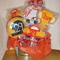 Nascar Cookies Kevin Harvick cookie bouquet for co-worker