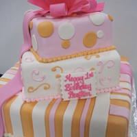 Bright Birthday   all fondant, with a gumpaste bow on top