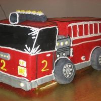 Red Firetruck   All buttercream decorations