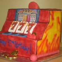 Blazing 7's buttercream decorations, dials are fondant, payout is an edible image.