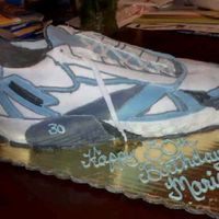 Running Shoe   Done for a 30th birthday party. All fondant