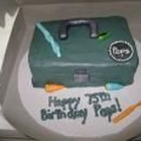 Tackle Box Cake   VANILLA SOUR CREAM CAKE WITH BUTTERCREAM FROSTING AND FONDANT DECO