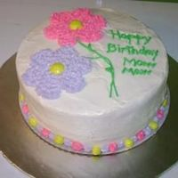 Flower Birthday  flower birthday cake. idea taken from wilton course 1 book. writing ended up terribly but other than that i'm pretty happy with it....