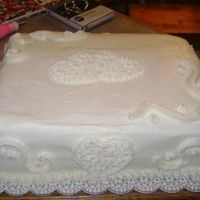 "Shotgun Sheet Cake sheet wedding cake for a ""shotgun"" wedding. mexican vanilla sour cream with buttercream decorations. groom is my cousin so i..."