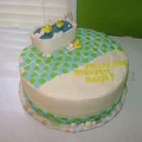 Rubber Ducky Baby Shower  my favorite cake so far. took lots of ideas from other cc cakes. cake is mexican vanilla sour cream cake iced in buttercream with fondant...