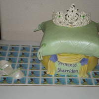 Princess And The Frog Theme  Mom wanted a pillow cake for her lil princess but the colors from the princes and the frog theme.White cake w/ lemon filling topped w/...
