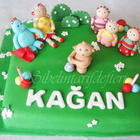 In The Night Garden Favorite cake for 2 years old children , they like this...