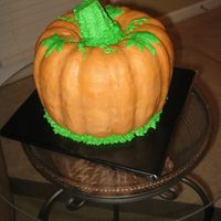 Pumpkin Gingerbread cake with maple buttercream.