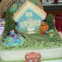 Bear's Garden W/pip N' Pop's Otter Pond My daughter begged my to get her a Bear in the Big Blue House birthday cake, but since everything Bear's been discontinued and I...