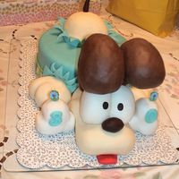 Garfield Characters / Odie Takes The Cake Odie busts out of birthday cake with a special 30th b-day surprise bone for the birthday girl! Cake is marble with chocolate BC filling and...