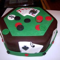 Groom's Poker Cake My sister begged me to make this groom's cake right before her wedding for the rehearsal dinner. She sent me a photo from Pink Cake...
