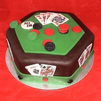 Poker Table Shower Cake