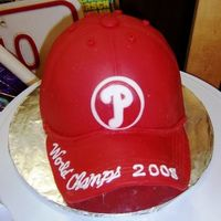Philadelphia Phillies Baseball Cap Cake Birthday cake for my husband who's a Phillies fan. His birthday just happened to fall right around when the Phillies finally won the...