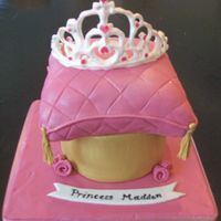 Princess Madden First Pillow Cake. First RI Tiara. SI Fondant w/fondant accents.