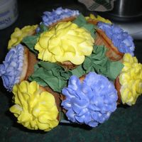 Mother's Day Cupcake Bouquet I made this Bouquet of cupcakes for my grandmother and one for my mother on Mother's Day! People thought they were real flowers and...
