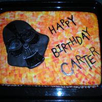 Darth Vader Cake I made this cake for a little boy that I use to look after. Both he and his brother are very into Star Wars.