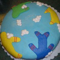 My Nephew's 1St Birthday I made this practice bottom tier for the cake that I am making for my nephew's first birthday on May 2nd. Thought since it was the...