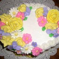 Heres The Top A picture of all the pretty flowers on the top!