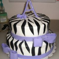 Zebra Stripes I made this cake for my neices 12th birthday, I modeled it after another CC'rs cake! :) Thank you for the great design idea!! TFL!