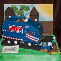 Allied Waste Truck This cake was done for a man retiring after 46 years plus. OMG this was so time consuming. I said never again. I may have to bite my tounge...