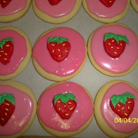 Strawberry Cupcake Suger Cookies