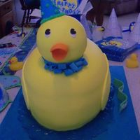 3D Rubber Ducky Vanilla cake with chocolate filling. Head made of rkt. TFL!