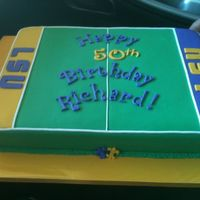 Lsu 50Th Bday Cake Sheet cake 50th bday cake. Almond cake with chocolate fillingTFL!!