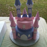 "Princess Castle Cake 8"" & 6"" Vanilla cake with Raspberry filling"