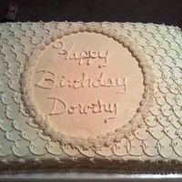 Ivory Lace Cake  This cake was for a woman turning 80. The lady that ordered it wanted something with lace that looked vintage and metioned the 40s so I...