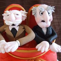 Waldorf And Statler i had to make the 2 old men from the muppets for a cake for my hubby, so here they are. they are made from mmf