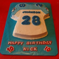 Titan's Jersey Titan's Jersey of my grandson's favorite player - all buttercream.