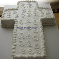 Easter Cross This is a chocolate cross cake with butter cream icing made for Easter lunch at my local seniors home