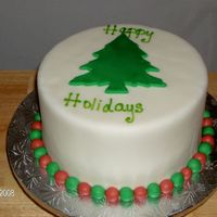 Holidaytreefondant.jpg   dummy cake covered with fondant; fondant christmas tree