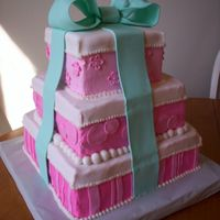 Baby Girl Shower   Buttercream with fondant accents