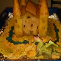 Gingerbread Castle W/ Dragon I made this gingerbread castle for my son's German class, his teacher was giving out extra points for anyone who brought in a '...