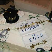 Graduation Cake WASC/Whipped Cream Frosting