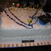 Graduation Cake WASC/Fresh Strawberries/Whipped Cream Frosting