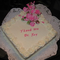Thank You Cake For My Doctor WASC/Whipped Cream Frosting