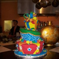 Dr. Suess' Birthday My first cake class project was a whimsy cake. I really love vivid, bright colors, so I chose the primaries and this is how it came out. It...
