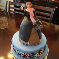 Mary Poppins Birthday Cake There are tons of flaws in this cake but I didn't get to start it until 9pm and our party was at 10am the next day. Grrr. I added an...