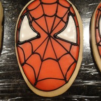 Spiderman Cookies Sugar cookies and glace icing made for my own superhero's 3rd birthday today.