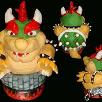 Bowser Bowser is made from a 3d ball and bottom tier I've used 6x6 pans..Head,limbs,horns & tail made w/rct & Everything's...
