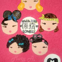 Harajuku Lovers Cc Toppers Thought I'd have a little fun & make these cc toppers out of left over fondant.