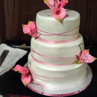 Pink Callas This cake is one of my favorites... bottom tier:: Raspberry filling, middle tier: bavarian creme and top tier: cherry filling... with...