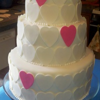 Tiered Hearts for a special bride that is grateful to God for giving her the perfect fiance